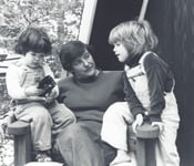 Lorraine Wallach with two children